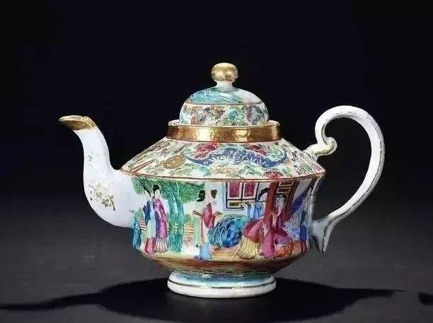 中国风古茶壶,领略中国精美工艺品汉恩轻奢背景墙图片