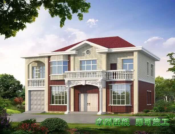 5款农村别墅设计图,款款带车库,二层和三层怎么选