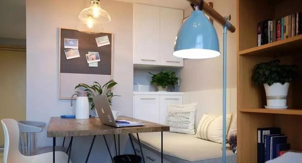 47㎡挑高单身公寓设计案例,小高层也能装出5个功能区