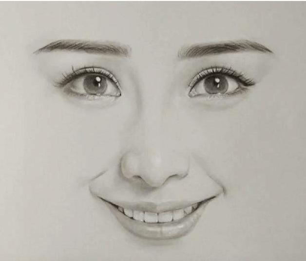 六位美女明星的手绘头像, 迪丽热巴难找, 杨幂最好认