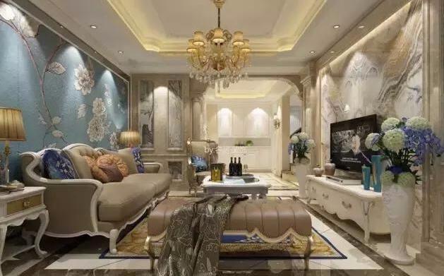 120㎡欧式复式楼完工啦!晒一晒,客厅背景墙打满分!