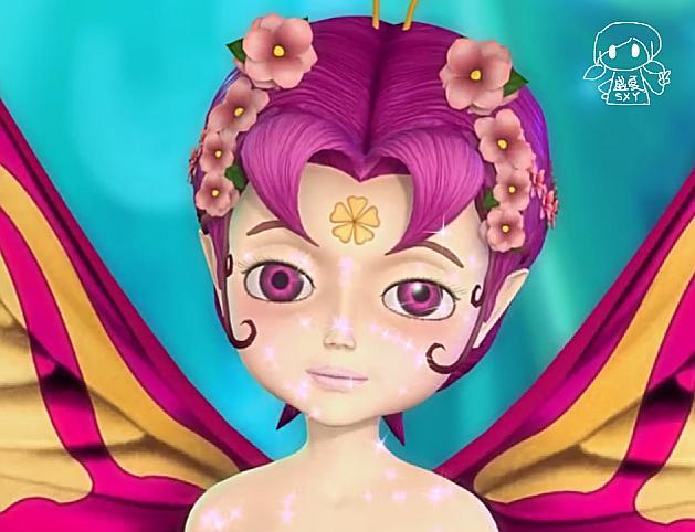 图1,小精灵 叶罗丽仙境里的小精灵长有蝴蝶小翅膀,常常会看见她们在辛勤灌溉森林,更多的时候她们是顽皮可爱的守护者,娇小可爱的她们内心也非常善良,发现女王时也会为罗丽一行人通风报信,小精灵拥有稚嫩的面庞,身上头上还有小花样子的点缀,宛若一个小小的蝴蝶仙子。