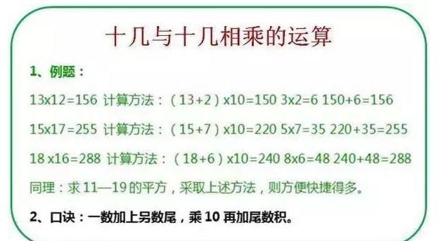 """博士老爸为女儿整理8大""""速算法"""",竟让女儿小学数学稳居第一!"""