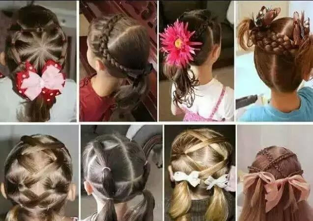 n款女孩编发教程,快来给小公主换换发型吧!图片