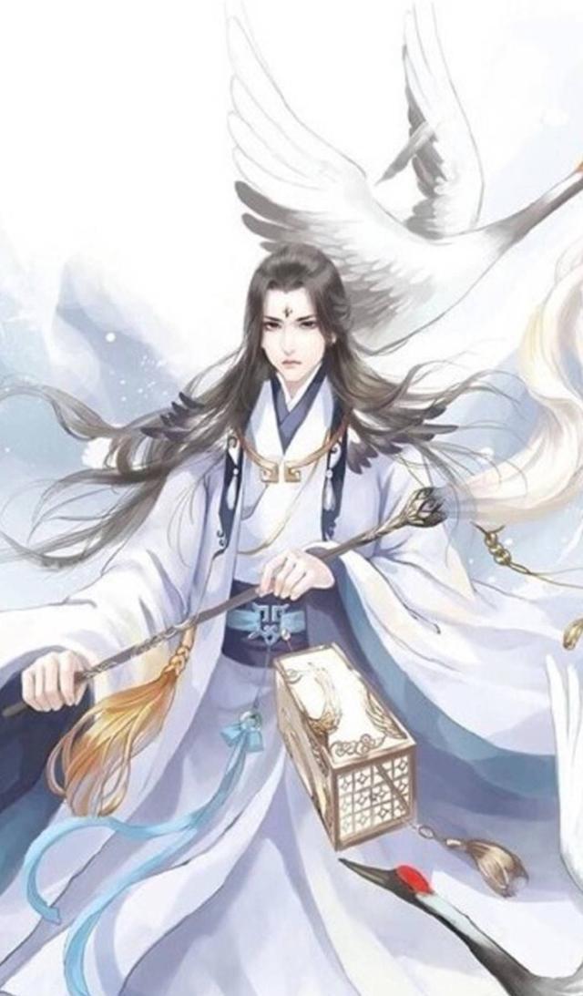 唯美中国风古装男女手绘