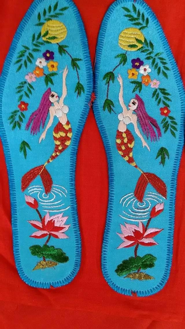 忻州民间手工绣花鞋垫作品欣赏