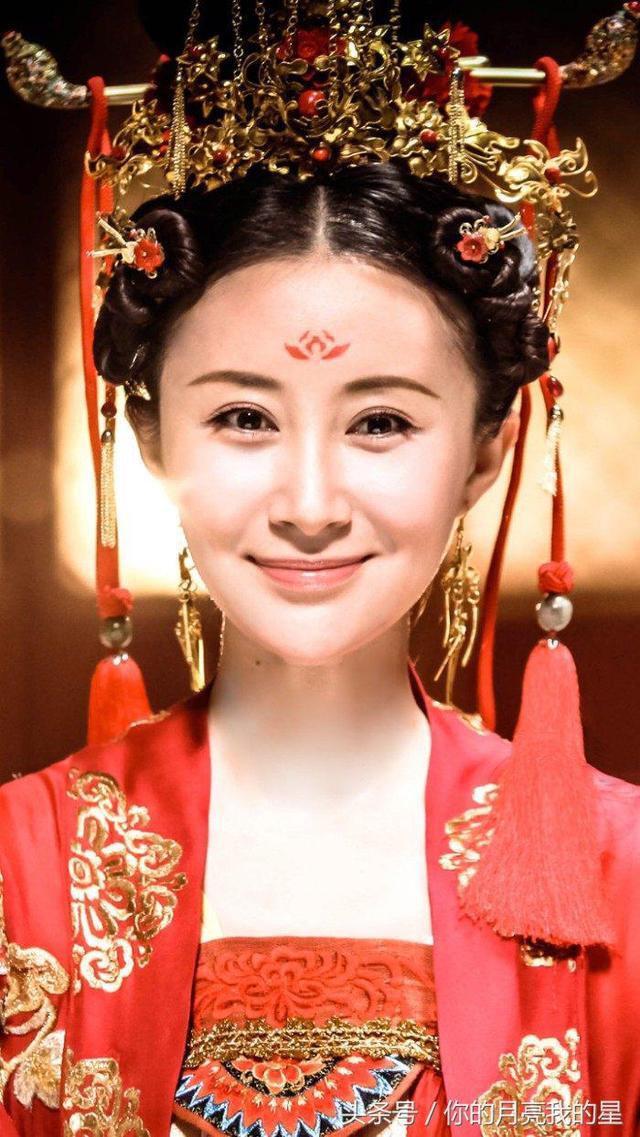 十二星座的专属额间花,迪丽热巴的凤九妆容最美!