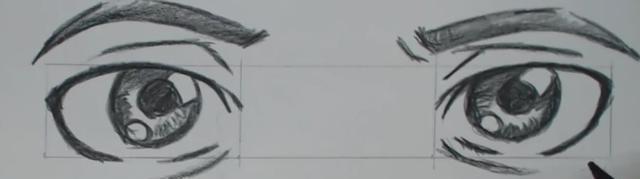 手把手教你绘画动漫人物眼睛(四):如何画好正脸的两只