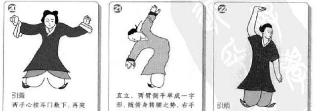 马王堆导引术图文教学!简单易学,可以收起来每天练练!