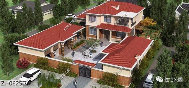 10套别墅户型建筑图,8到15米宽全都农村有,总号摇买杭州别墅要吗图片