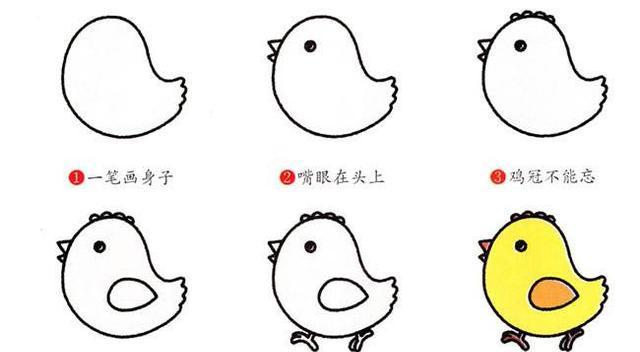 小鸡简笔画