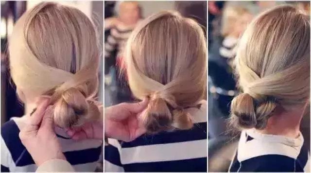 头发分区,左右侧的发量比例是3:7。多的一侧头发用三股辫的编发沿着发际线从左到右进行编发。 当头发编到右边耳朵上方的时候,用卷发的方式在头顶盘一圈。 盘好后用夹子固定住就好了。 短发妹纸公主头 选取耳际上的头发,用橡皮筋绑成一束。 把绑好的发束分成两部分,并分别旋拧发丝。 把分别旋拧好的发束,交差成一个发束。