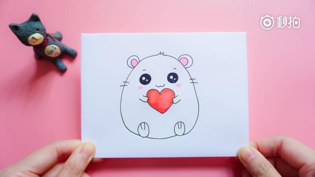 手绘超萌小仓鼠的简笔画教程,步骤详细,你学会了吗?