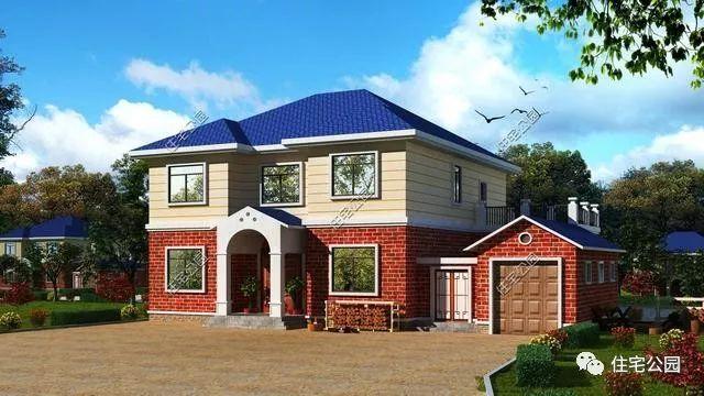 两个自建别墅17x11米,厨房不是,v两个农村!联排别墅别墅朝向图片
