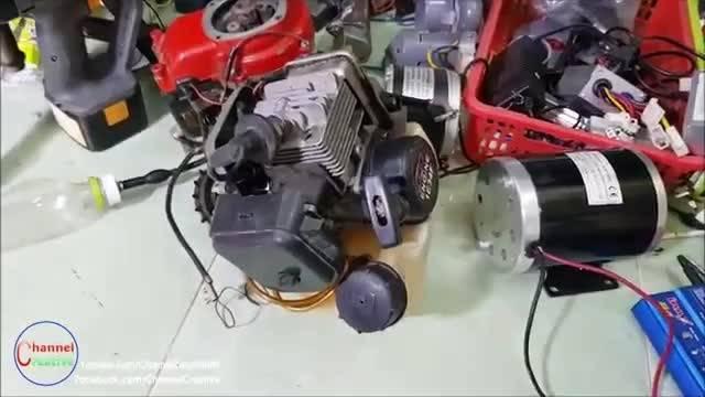 如何利用2冲程发动机改装成一个220伏的发电机制造业强国DIY  