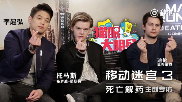 专访《移动迷宫》三位男主:外国小鲜肉根本不知道什么是C位