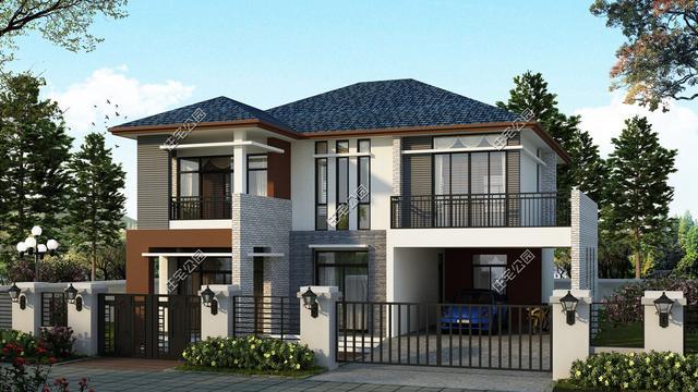 20套农村2层自建房,兼顾中式设计欧式风格,这样的房子图片