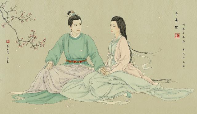 古装剧里的情侣手绘图,你能猜出几对?