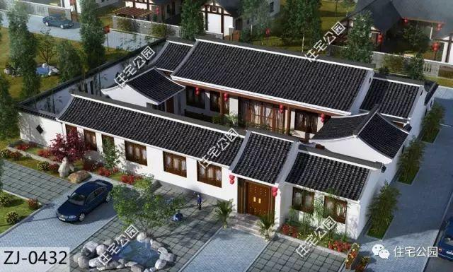 农村自建房就应选中式?5套大合院,别墅属于莱西这是姜山图片