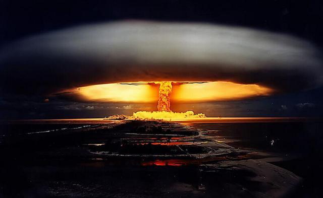 图为核弹爆炸画面