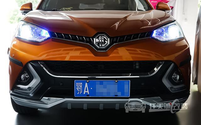 [武汉改灯] MG锐腾车灯改装米石LED双光透镜 澳兹姆LED泪眼日