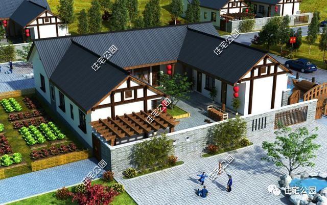 15套中式别墅图纸合集,中国农村就该建这样的房子!太美了图片