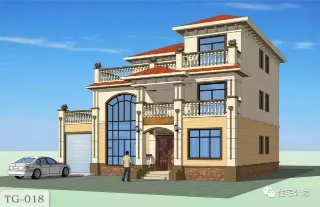 10套带堂屋农村别墅, 第2套最豪第1套建最多, 第4中式