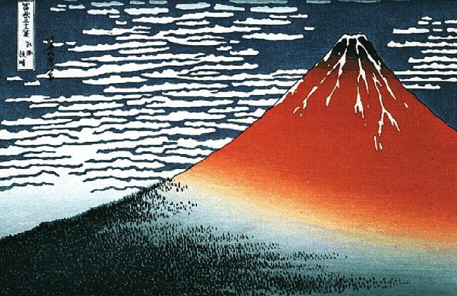 江户时代浮世绘最著名杰作:《神奈川冲浪里》