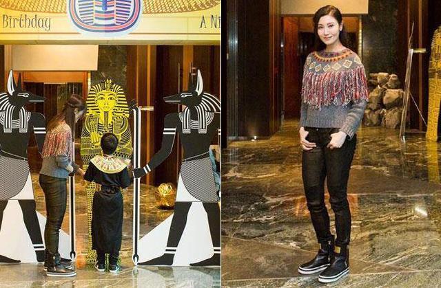 最美港姐李嘉欣为儿子办生日派对,没想到现在还是如此漂亮!