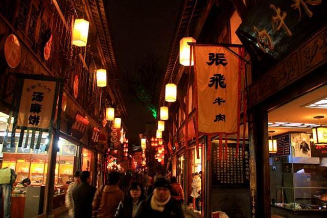 比较出名的是锦里小吃街的荞面,三大炮,牛肉焦饼,糖油果子等等.图片