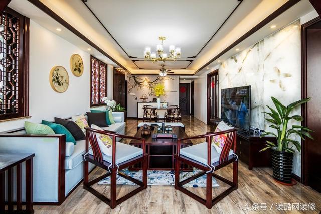 空间类型:三室两厅 房屋面积:133㎡ 装修风格:新中式 工程造价:32万