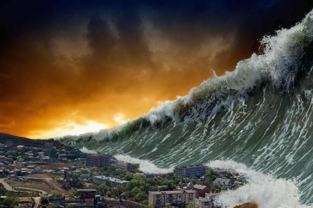 美国8.0级强烈地震引发海啸,世界末日的前兆,是否会降临于人类
