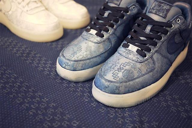 「蓝」丝绸现身!连陈冠希都想要的kyosou clothing 客制鞋款图片