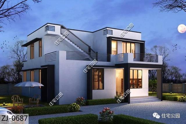 8套农村自建小别墅, 户型方正,简单大方, 最低造价20万!