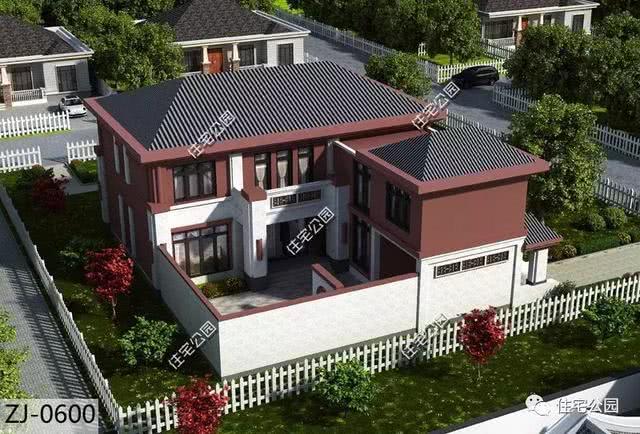 中式农村小院16x19米,8个卧室,比别墅还美!图片