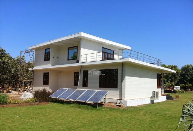 二部200平米两层现代厂家轻钢大门自建房-第印度分非标风格别墅别墅图片