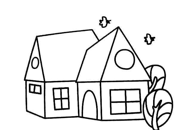 儿童简笔画房子的画法