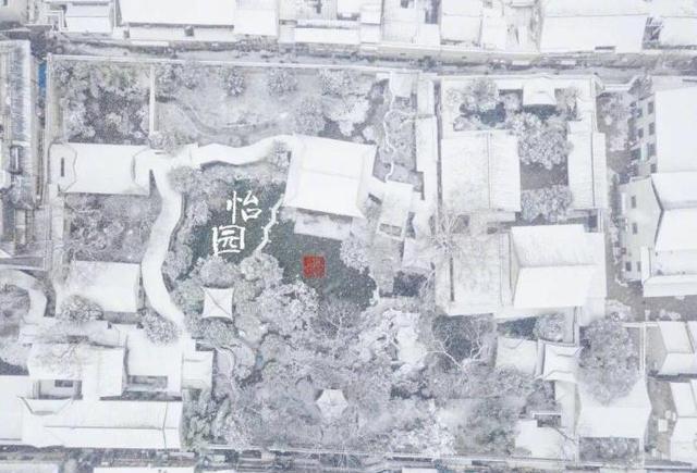 手绘宫墙雪景图片