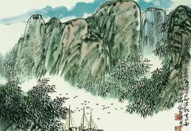 蒋维德三十幅山水作品画,真漂亮图片