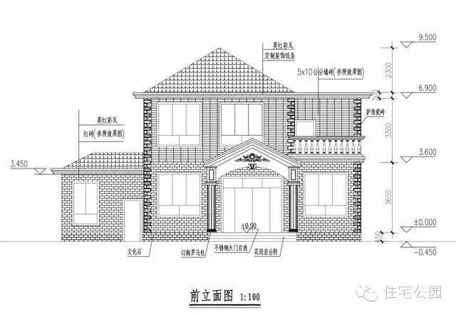 4套10米面宽小户型农村别墅, 2层20万建好, 经济实用适合老百姓