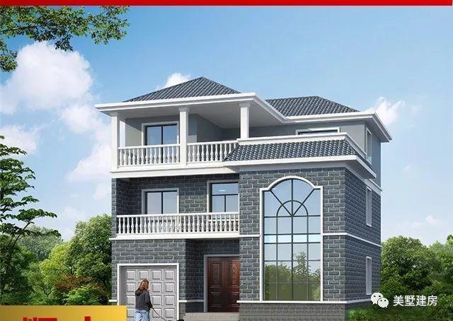 占地120平方米, 造价32万, 适合南方的三层农村自建房