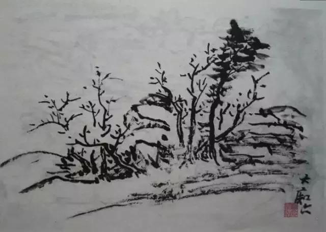 一代山水画宗师黄宾虹的珍贵写生稿图片