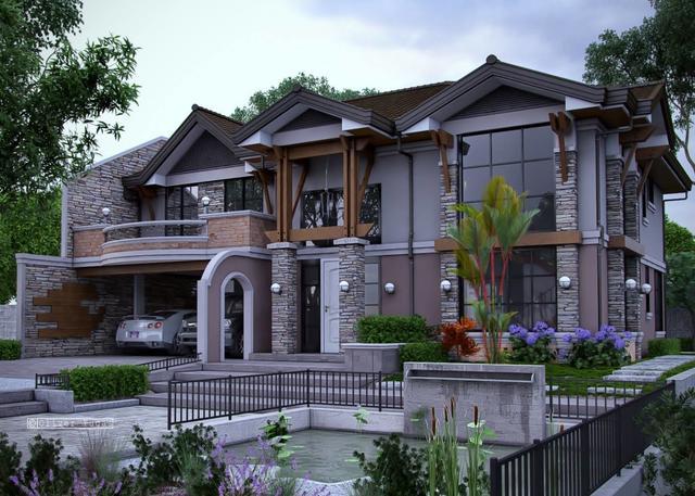 农村建房选中式合院最好,欧式次之?错!这样的现代别墅图片