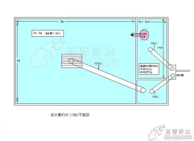 鱼池过滤系统设计图---从日本偷来的锦鲤业者内部资料