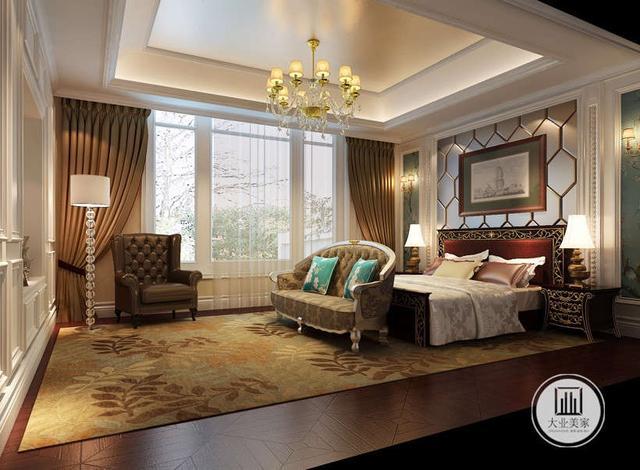 欧式古典独栋别墅装修案例|装修|深青色|客厅_新浪网