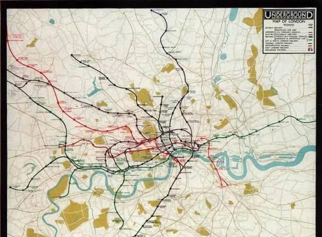 1926年之前的伦敦地铁线路图