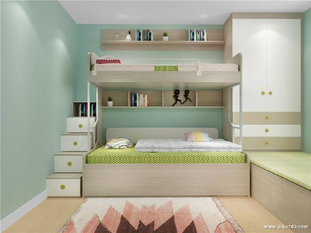 儿童房选择上下床真的好吗?不,这样搭配设计才是真的图片