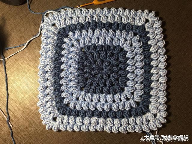 简单易学却高颜值的爆米花方形坐垫, 想钩多大钩多大!
