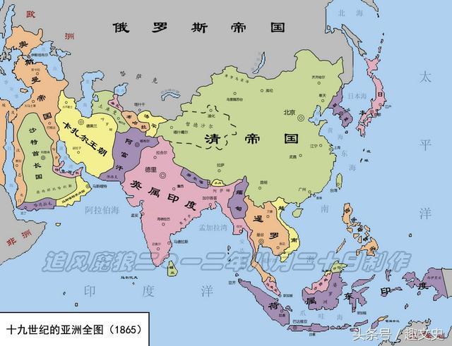 西方胜东方:明朝--民国时期中国 欧洲对比全图
