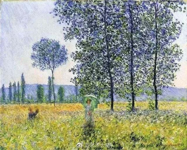 法国印象派莫奈风景油画作品